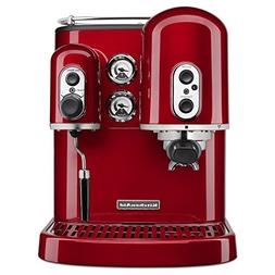 KitchenAid KES2102CA Candy Apple Red Pro Line Espresso Maker