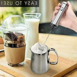 Kitchen Stainless Steel Handheld Electric Coffee Milk Frothe