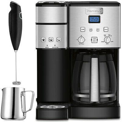 Cuisinart 12-Cup Coffee Maker and Single-Serve Brewer  w/ Mi