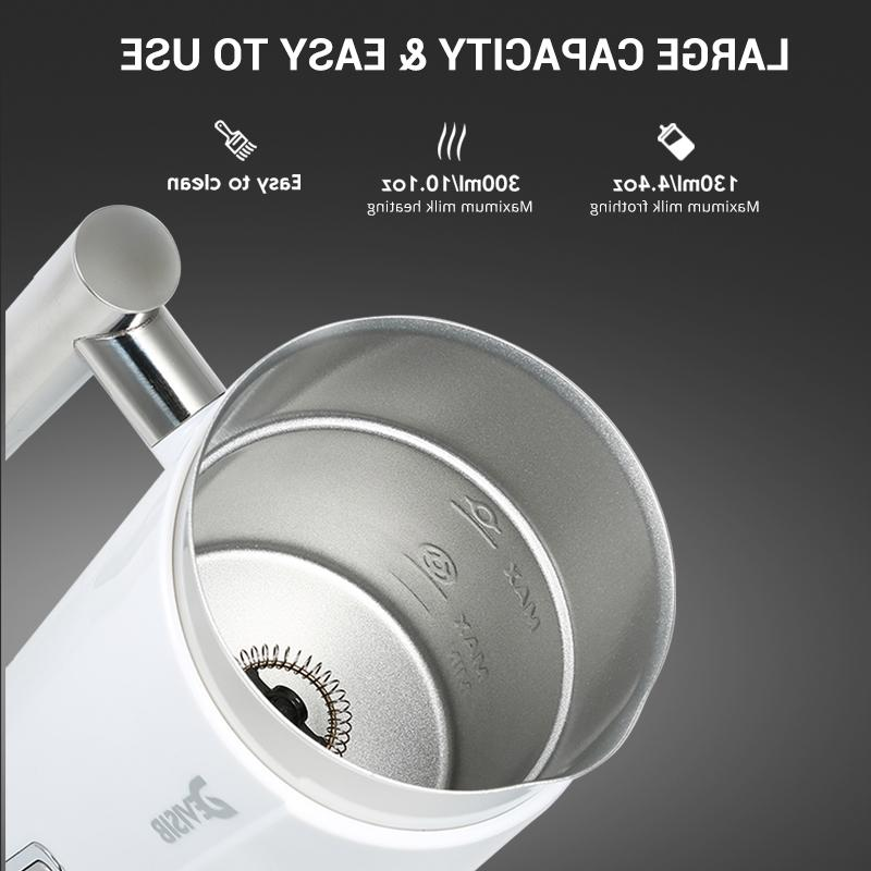 DEVISIB 300ML Automatic <font><b>Frother</b></font> <font><b>Milk</b></font> Steamer Cappuccino Hot Stainless Steel