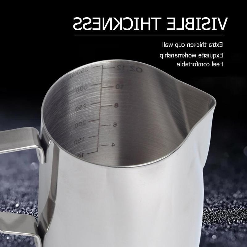 350ML/600ML Stainless Frothing Pitcher Pull Cappuccino Mugs and