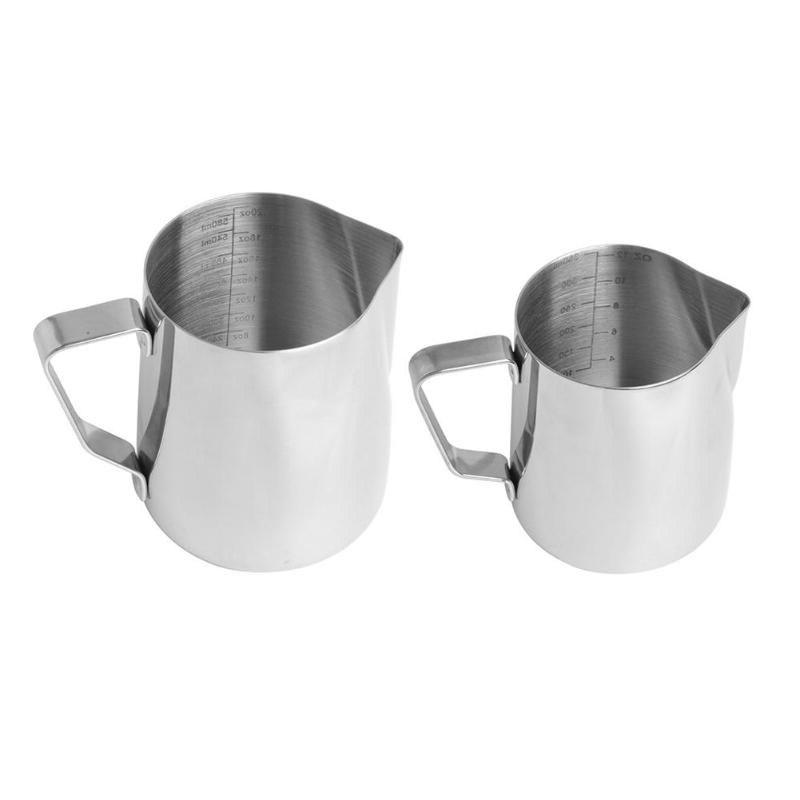 350ML/600ML Stainless Frothing Pitcher Flower Cup Cappuccino <font><b>Milk</b></font> with Scale