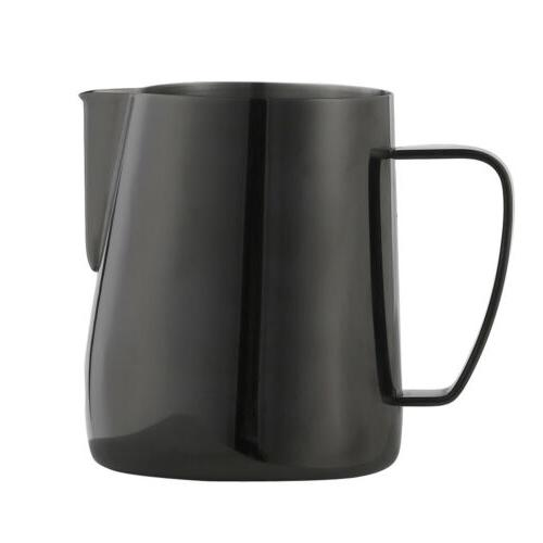 600ml espresso coffee milk frothing steaming pitcher