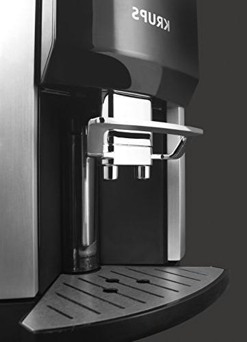 KRUPS Cappuccino Machine Espresso Automatic Rinsing, Two Milk Ounce, Silver