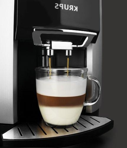 KRUPS Cappuccino Machine Espresso Automatic Rinsing, Two Step Milk Frothing Technology, Ounce, Silver