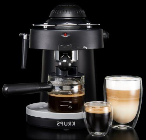 KRUPS XP1000 Steam Espresso Machine for Cappuccino, Black