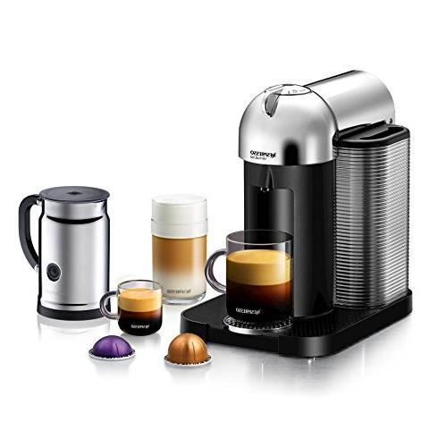 Nespresso A+GCA1-US-CH-NE VertuoLine Coffee and Maker Chrome