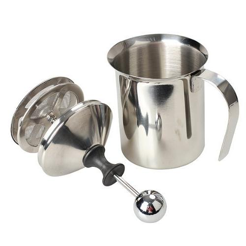 Vktech Stainless Milk Frother Double Milk Creamer Milk