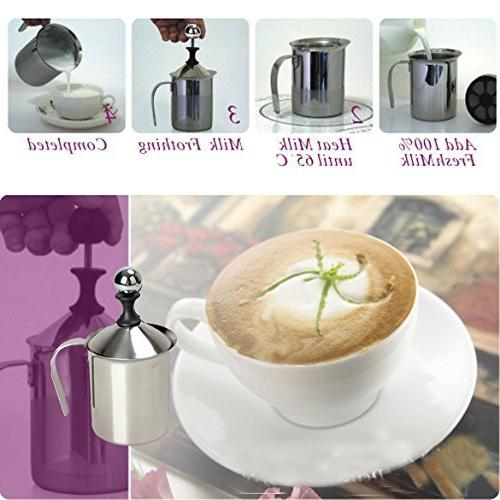 Vktech 400ml Milk Frother Milk Milk