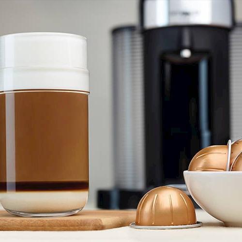 Nespresso A+GCA1-US-CH-NE VertuoLine and Maker with Aeroccino Frother, Chrome