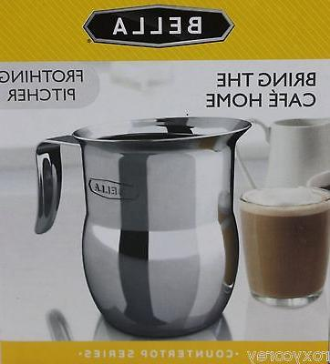 a stainless steel frothing pitcher bring