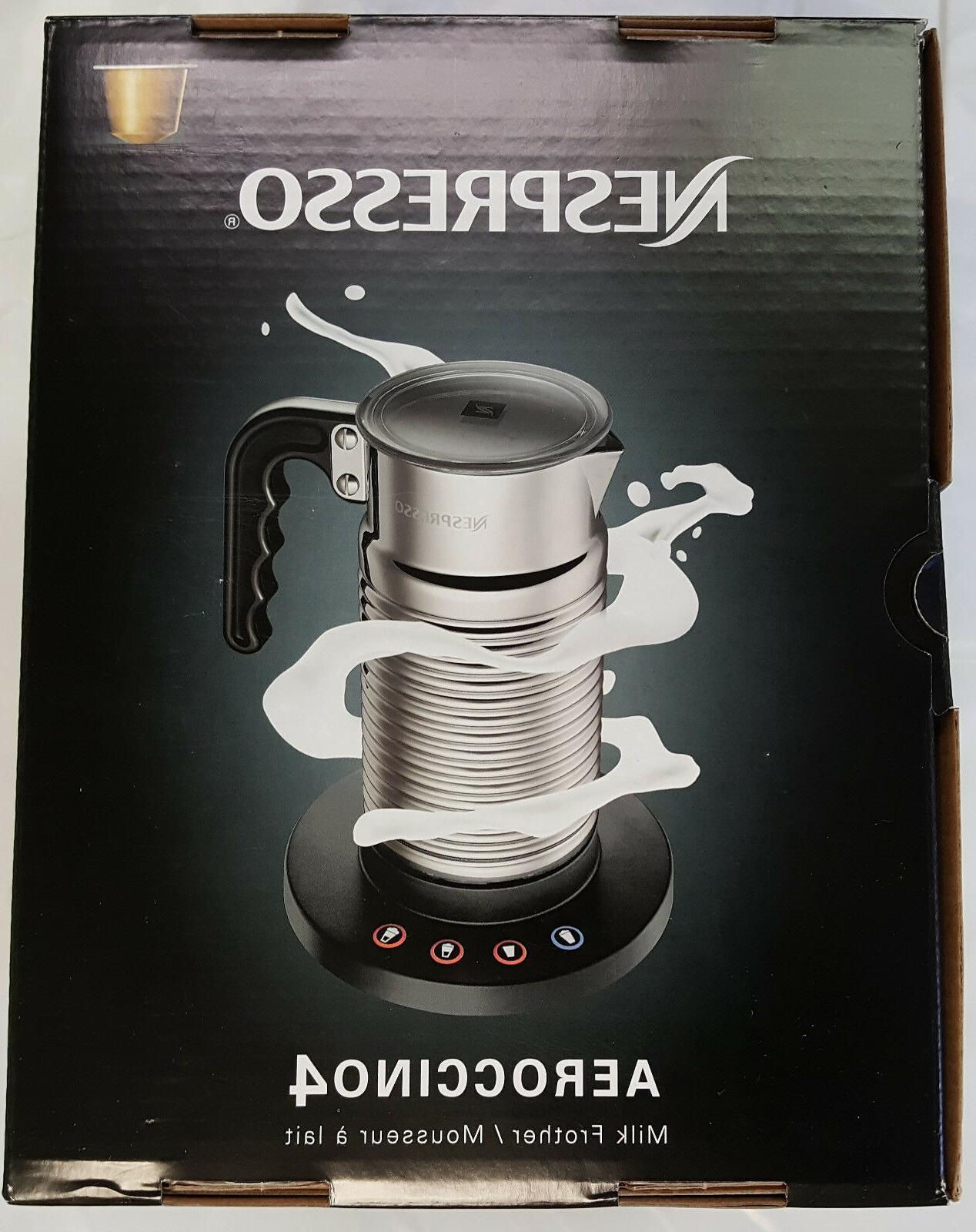 New Nespresso Milk Frother STEEL Aeroccino 4 SAFE