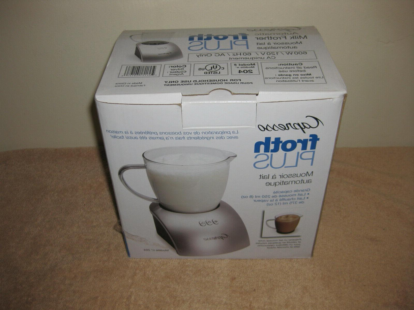 brand new froth plus automatic milk frother