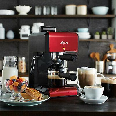 Mr. Coffee Cafe Automatic Red Espresso Cappuccino Frother La