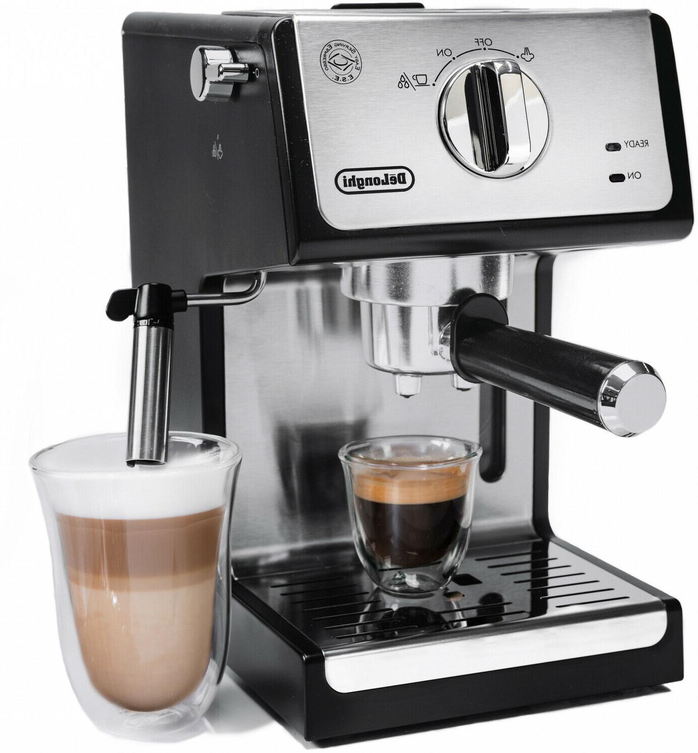 delonghi bar espresso machine milk steam frother