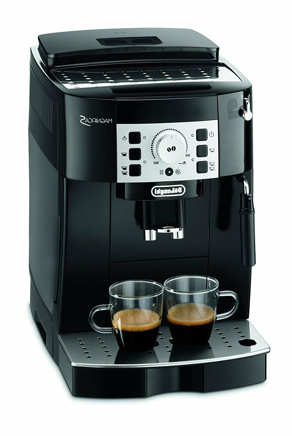 DeLonghi ECAM 22.110.B Magnifica S Coffee Machine Black Capp