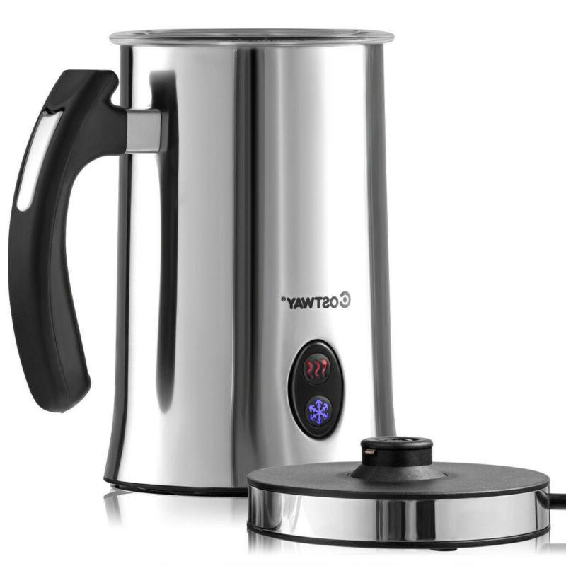electric automatic milk frother and heater steamer