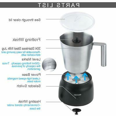 Secura Electric Automatic Frother Hot Chocolate