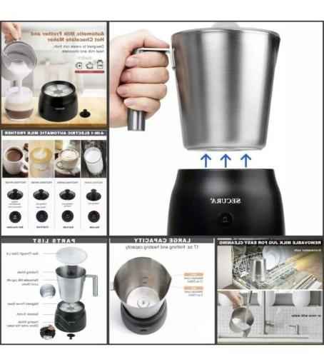 electric automatic milk frother and hot chocolate
