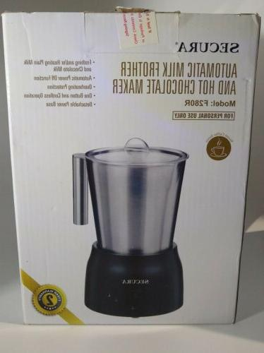 electric automatic milk frother hot chocolate maker