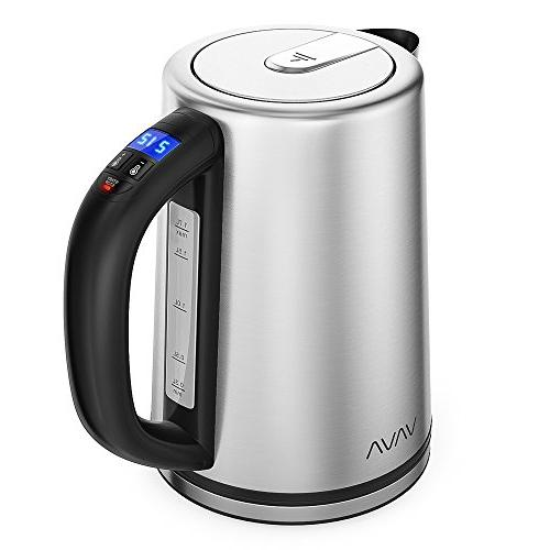Electric Real-Time LED Display with Control, Stainless Steel Hot Water Kettle, Keep Warm Function