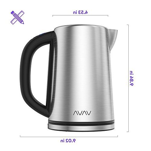 LED Display Tea Kettle Stainless Hot Water Kettle, Keep Function