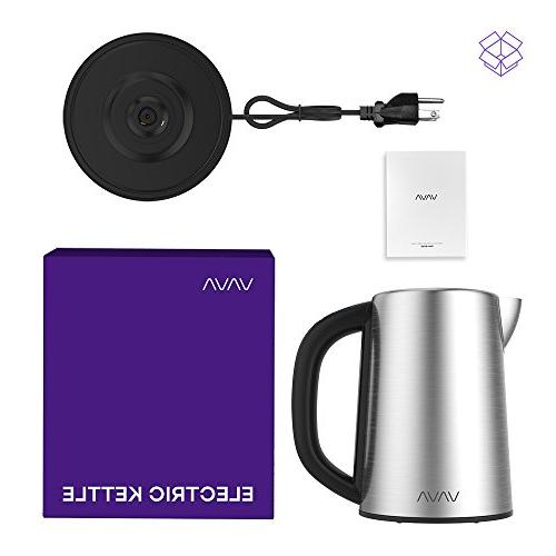 Electric Kettle, LED Tea Stainless Hot Water Kettle, Keep Warm Function