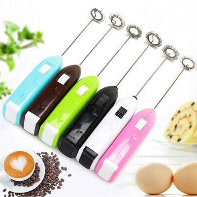 Electric Mini Egg Beater Handheld Milk Frother Coffee Whisk