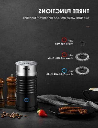Electric Milk Frother Wall Steamer Foamed Coffee Latte