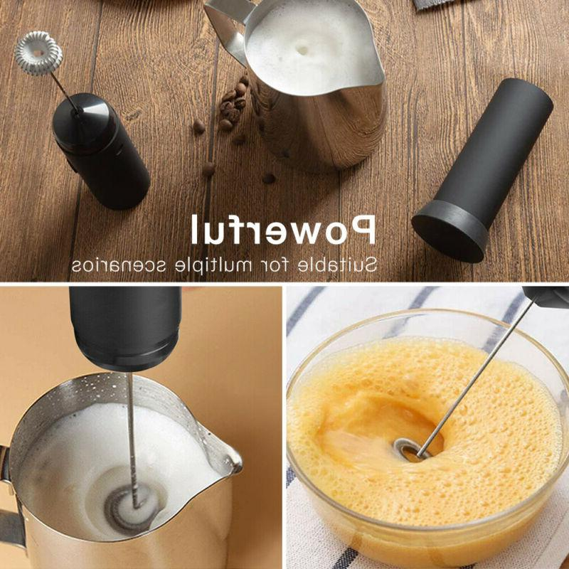 Kitchen Milk Frother Whisk Mixer Coffee Egg Beater Drink Foamer