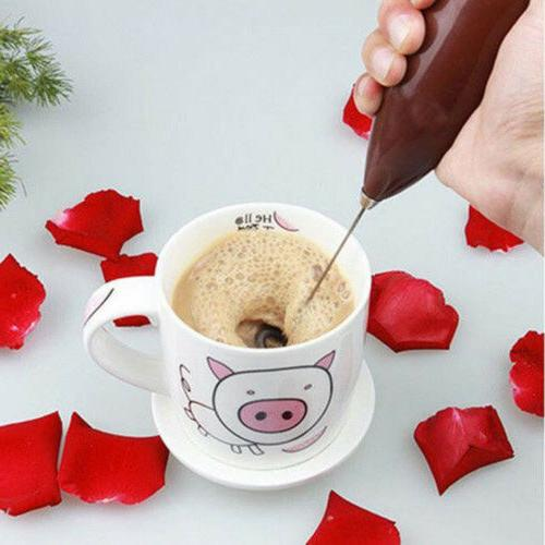 Electric Foamer Whisk Mixer Coffee