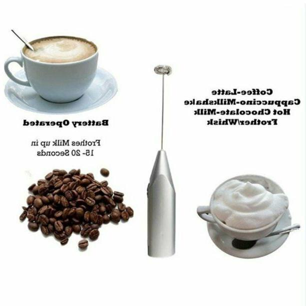 Electric Foamer Whisk Mixer Coffee Eggbeater