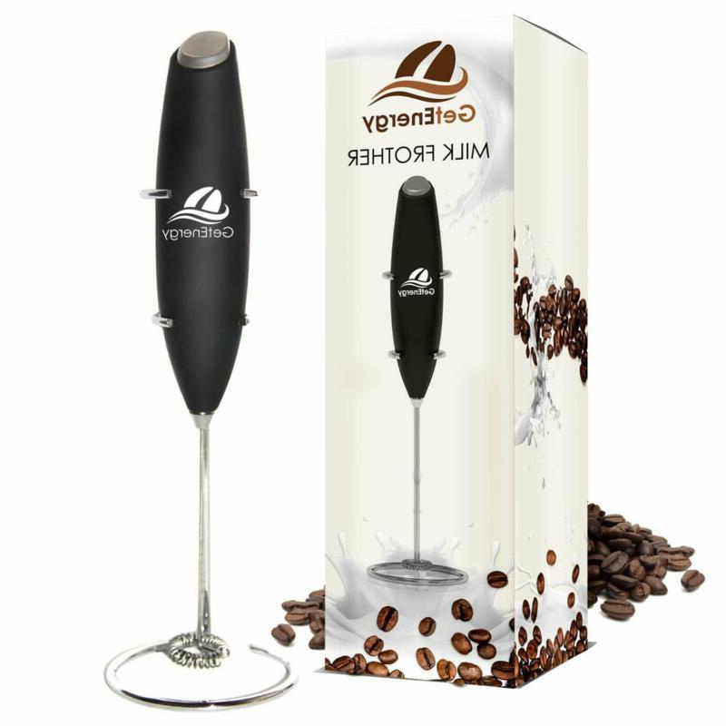 electric milk frother foam maker whisk mixer