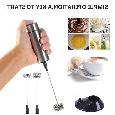 electric milk frother handheld for drink mixer