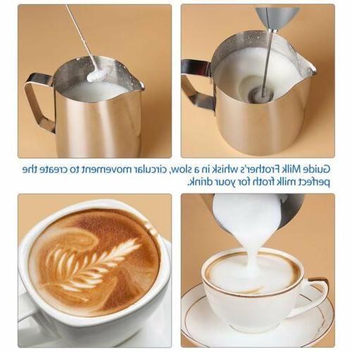 Electric Frother, One Touch Battery Foam Maker