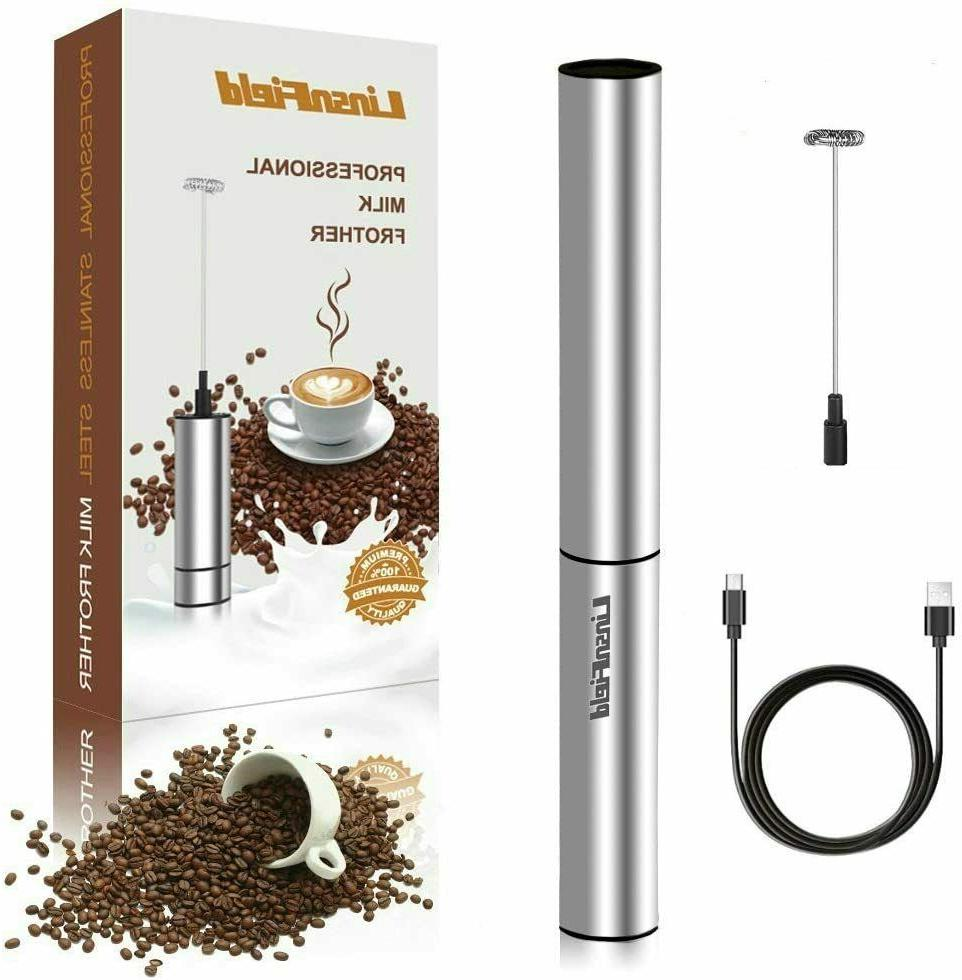 electric usb rechargeable milk coffee frothers complete