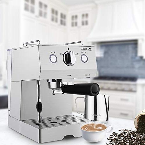 Barsetto Espresso Milk Maker, Coffee Maker Bar Pump,Stainless
