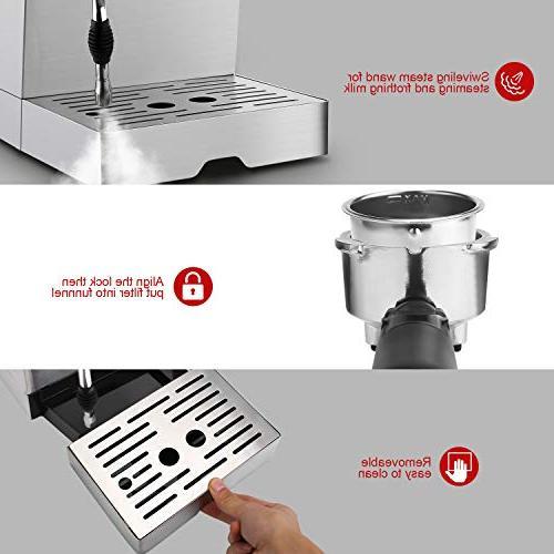 Barsetto Machine Milk Maker milk Bar Pump,Stainless