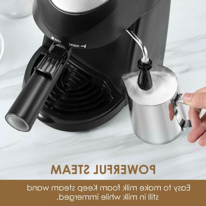 Espresso Machine 3.5 Bar Coffee Maker With Milk Frother