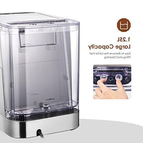AICOK Espresso Machine, Cappuccino Maker, Latte Maker, Moka Maker, Maker with Milk Bar Pump, 1050W, Steel