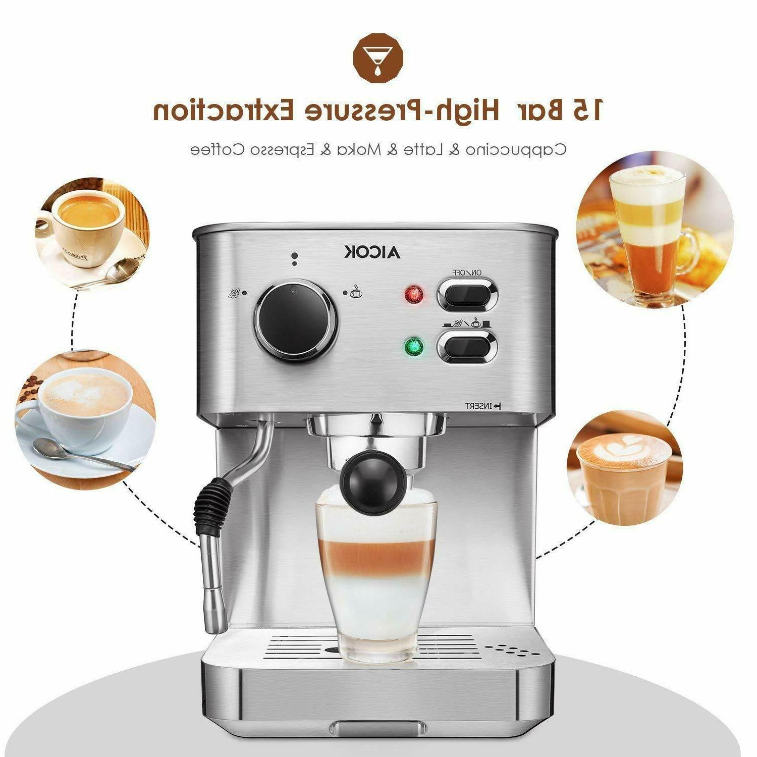 Espresso Machine, with Milk Bar 1050W,