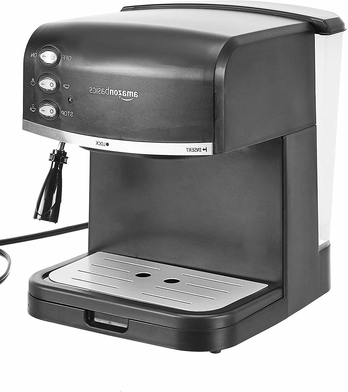 AmazonBasics Espresso Machine, Milk Frother Black **MSRP:189.99