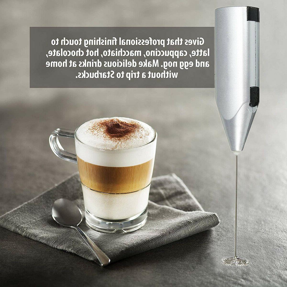 Frother Milk Mixer Drink Foamer Coffee Beater Latte