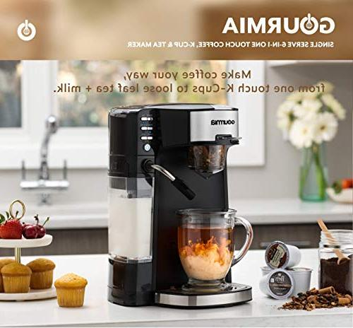 Cappuccino, Latte, Coffee, & Chai/Milk Tea Built-In Milk Frother K-Cups/Ground Coffee/Loose Leaf - Cup