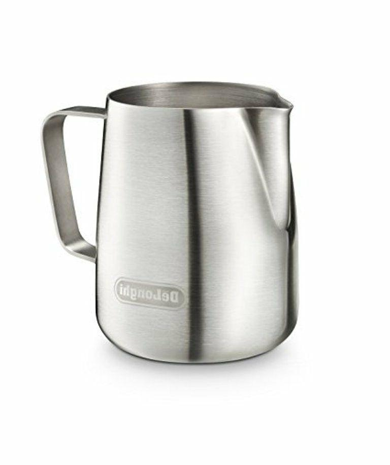 genuine brushed stainless steel milk frothing jug