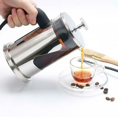 hand pressure coffee filter pot stainless steel