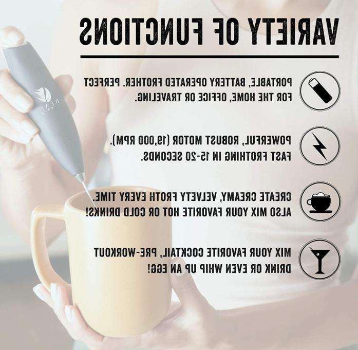 Handheld Coffee Whip Foam Whisk Mixer