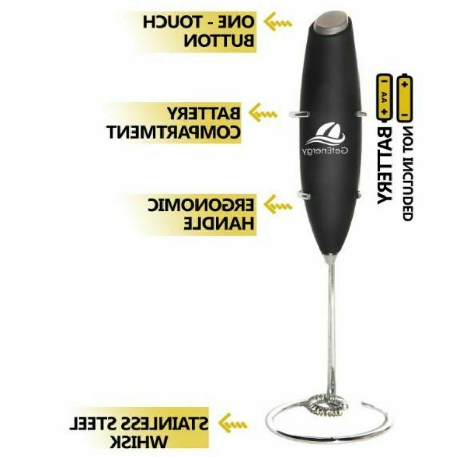 Handheld Electric Coffee Foam Whisk Blender
