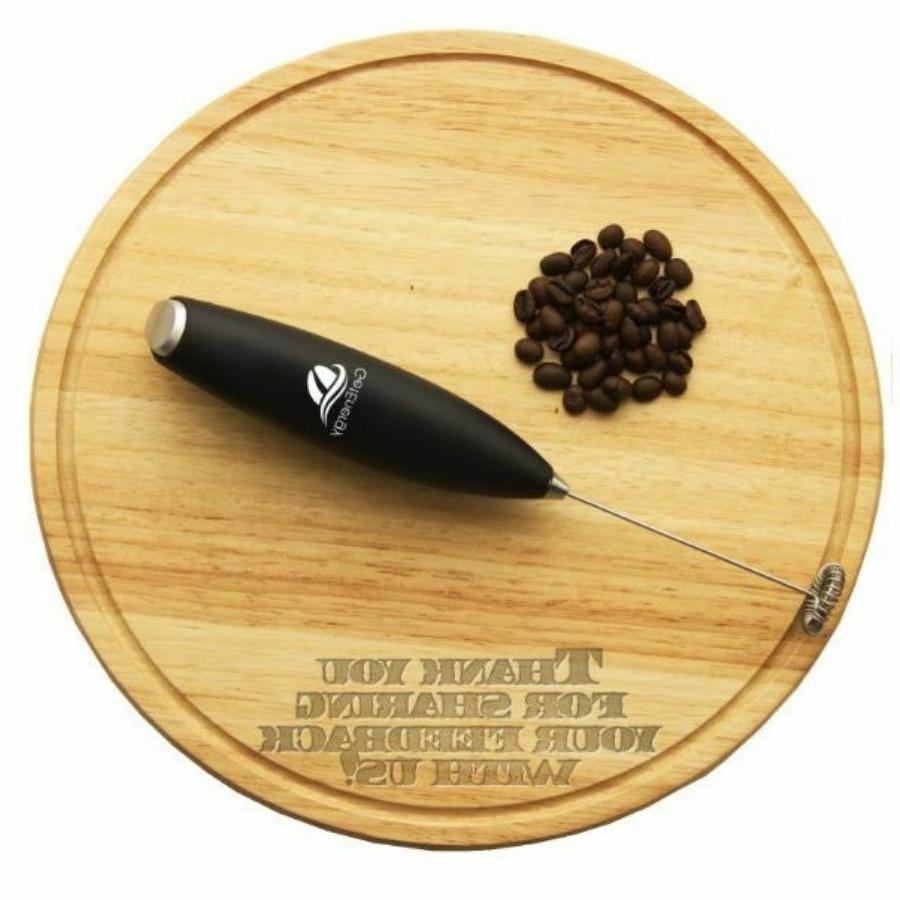 Handheld Milk Coffee Whip Foam Whisk Drink Mixer