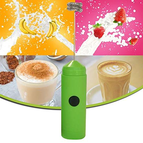 HELLO Frother Double Handheld Battery Operated Maker Sleek Drink Mixer Stand